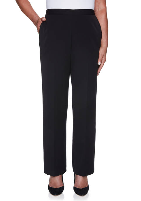 Alfred Dunner Womens Catwalk Twill Pants