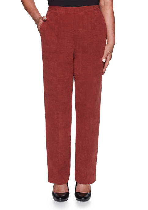 Alfred Dunner Womens Catwalk Suede Pants