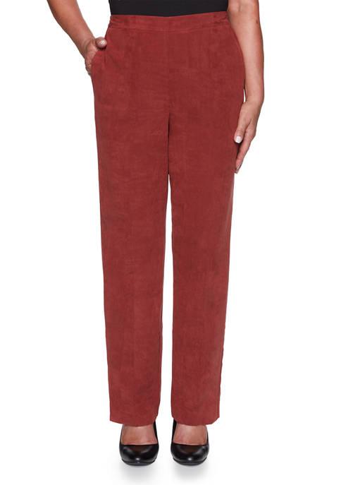 Plus Size Catwalk Suede Pants