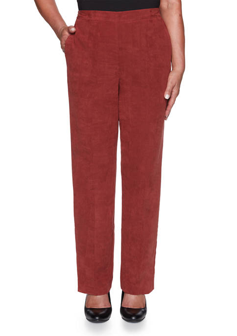 Alfred Dunner Petite Catwalk Twill Pants- Short