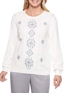 Stocking Stuffers Center Embroidered Sweater