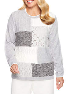 Stocking Stuffers Textured Colorblock Sweater