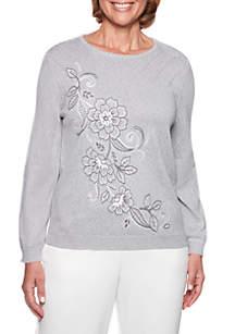 Stocking Stuffers Flower Scroll Sweater