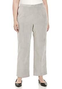 Plus Size Corduroy Short Pants