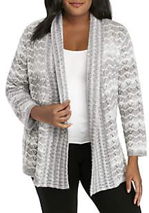 Plus Size Stocking Stuffers Pointelle Textured Sweater