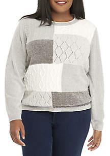 Plus Size Stocking Stuffer Colorblock Sweater