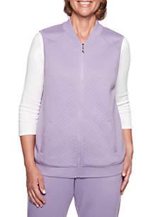 Petite At Ease Quilt Knit Vest