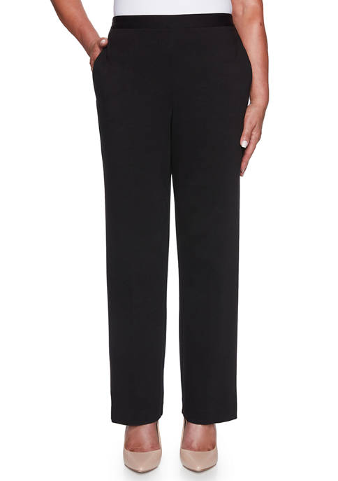 Alfred Dunner Womens Knightsbridge Station Ponte Pants