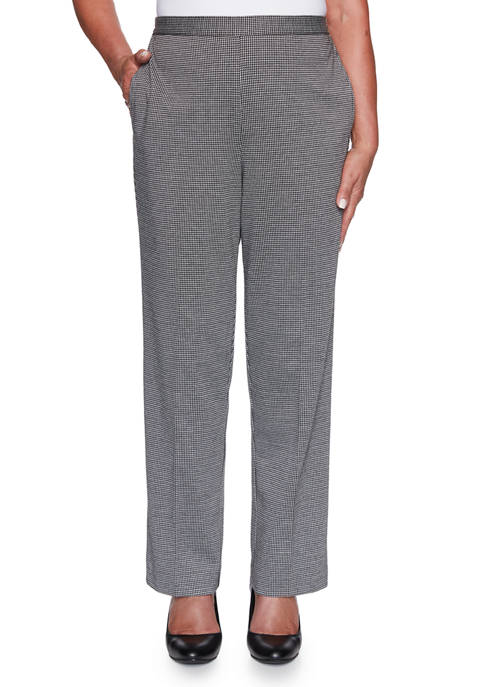 Alfred Dunner Plus Size Knightsbridge Station Houndstooth Pants