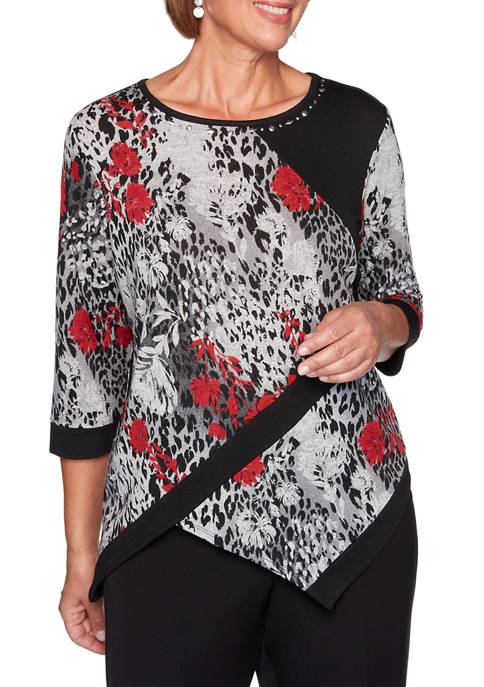 Alfred Dunner Plus Size Knight Bridge Station Spliced