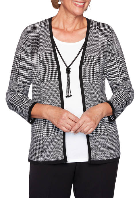 Alfred Dunner Plus Size Knight Bridge Station Houndstooth