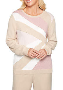 Home for the Holidays Colorblock Sweater