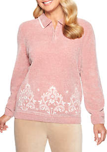 Home for the Holidays Chenille Colorblock Sweater