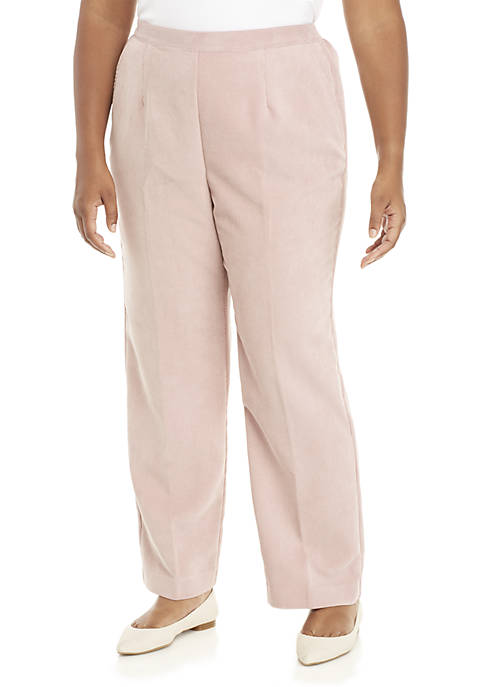 Plus Size Home For The Holidays Corduroy Short Pants