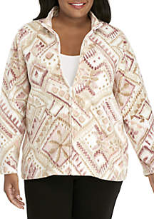 Plus Size Home for the Holidays Diamond Jacket
