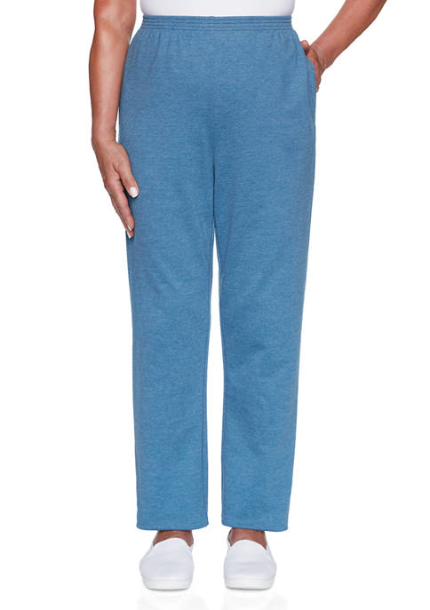 Alfred Dunner Womens Long Weekend Pants- Short