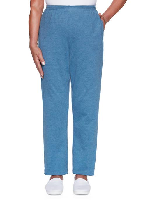 Alfred Dunner Womens Long Weekend Pants- Medium
