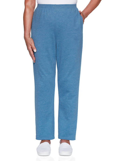 Alfred Dunner Plus Size Long Weekend Pants- Medium