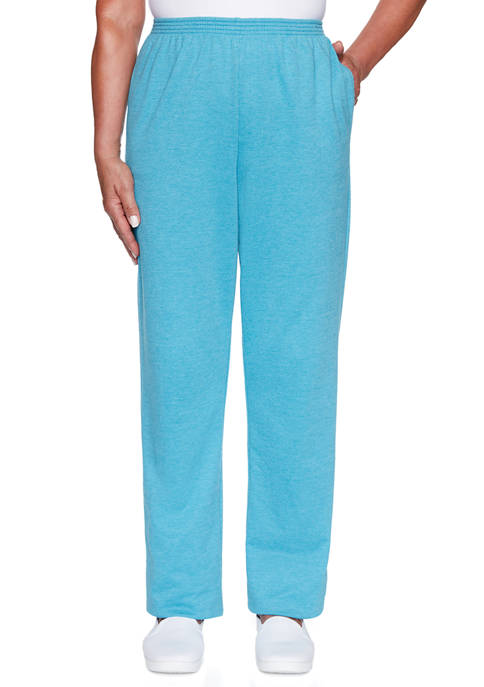 Alfred Dunner Petite Long Weekend Pants- Short
