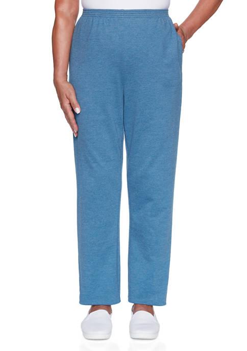 Alfred Dunner Petite Long Weekend Pants- Medium