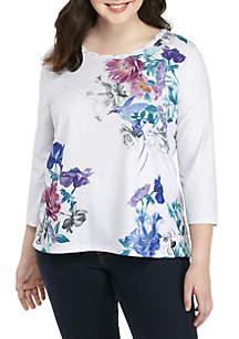 Plus Size Comfortable Situation Hummingbird Knit Top