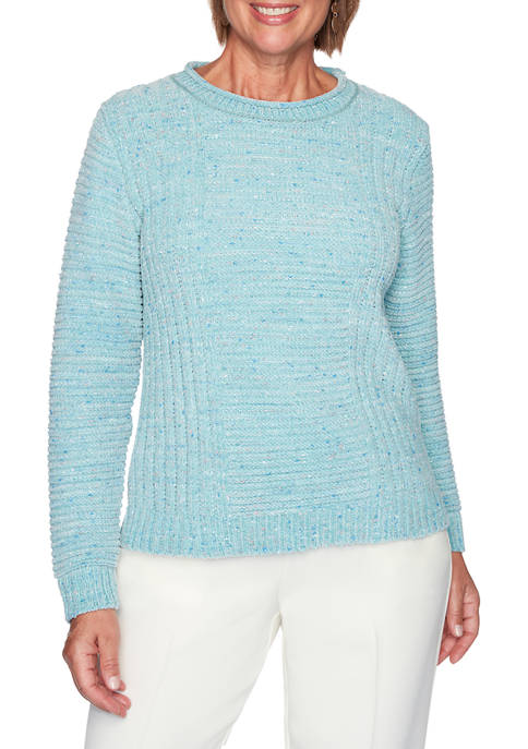 Alfred Dunner Plus Size St Moritz Small Fleck