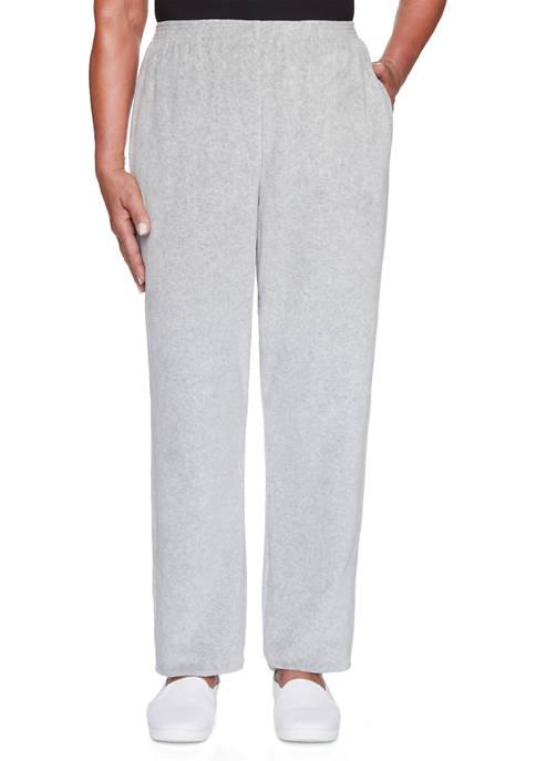 Alfred Dunner Womens Modern Living Velour Pants- Short
