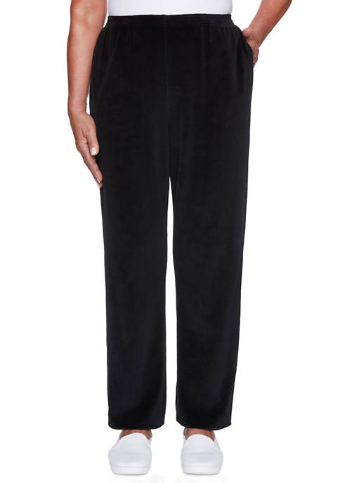 Alfred Dunner Plus Size Modern Living Velour Pants