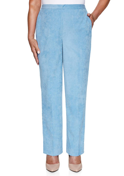 Alfred Dunner Womens Dover Cliffs Wale Corduroy Pants-