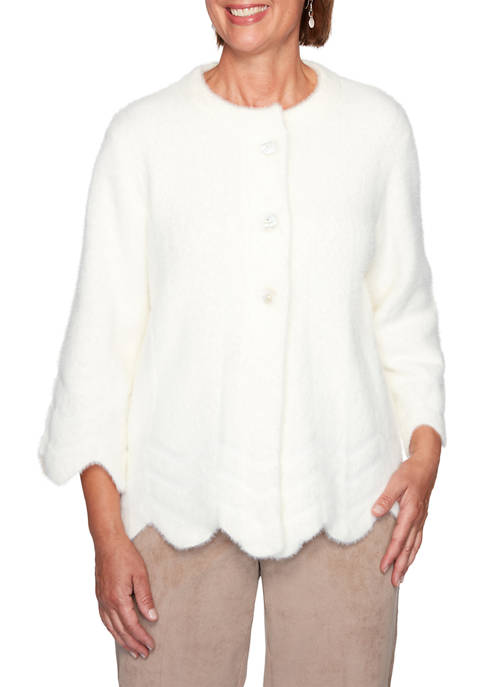 Womens Dover Cliffs Feather Yarn Jacket