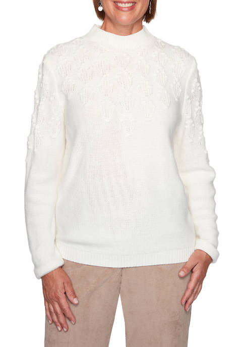 Alfred Dunner Plus Size Dover Cliffs Pointelle Stitch