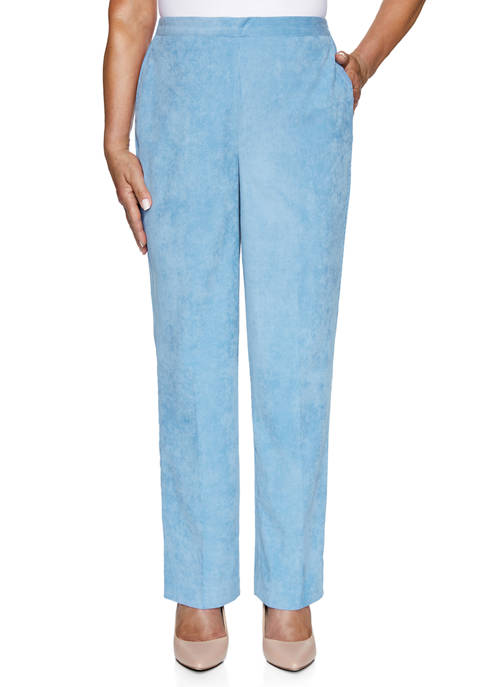 Alfred Dunner Petite Dover Cliffs Wale Corduroy Pants