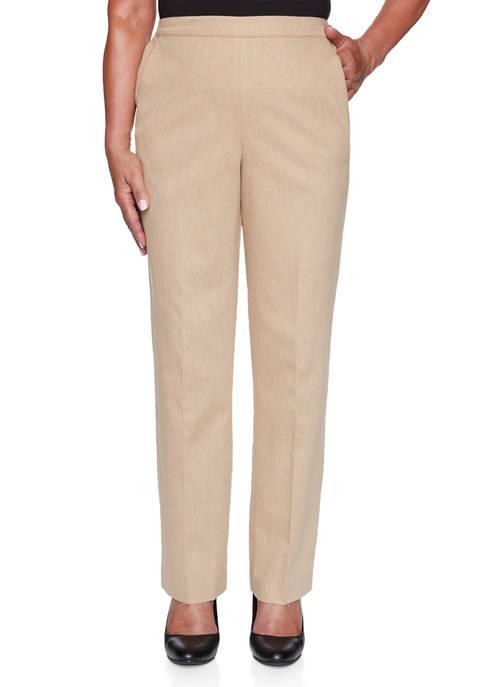 Alfred Dunner Womens Glacier Lake Peached Sateen Pants-