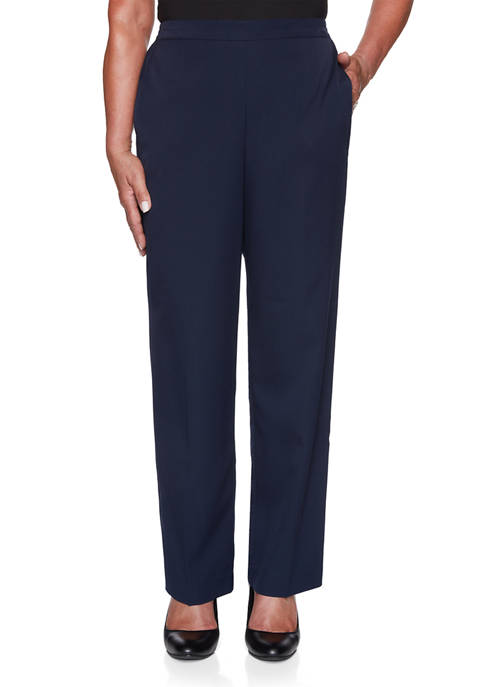Alfred Dunner Womens Vacation Mode Twill Pants- Medium