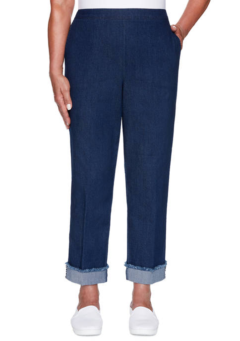 Alfred Dunner Plus Size Denim Friendly Ankle Cuff