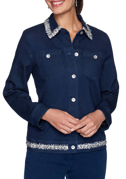 Alfred Dunner Plus Size Denim Friendly Denim Jacket