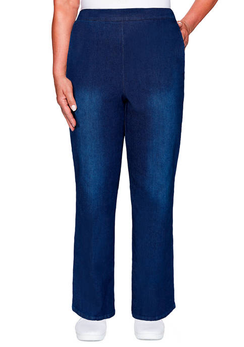 Petite Denim Friendly Proportioned Pull On Pants