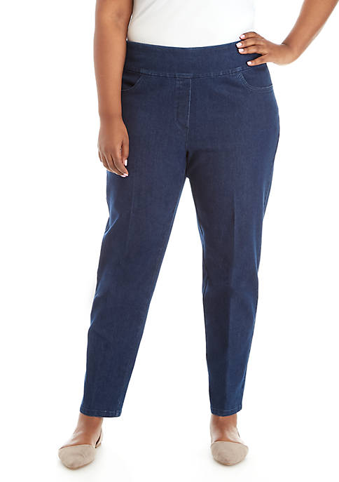 Alfred Dunner Plus Size Proportion Short Denim Allure