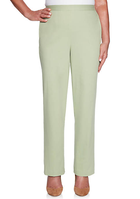 Alfred Dunner Petite Greenwich Hills Proportioned Medium Pants
