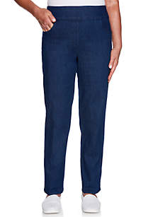 Petite Greenwich Hills Proportioned Short Denim Allure Pants