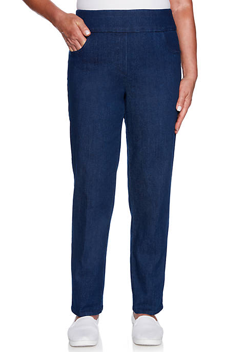 Alfred Dunner Petite Greenwich Hills Proportioned Medium Denim