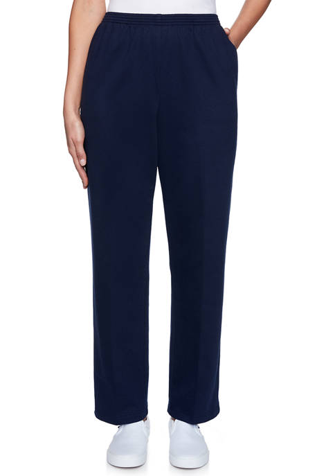 Womens Relaxed Attitude French Terry Proportion Medium Pull-On Pants