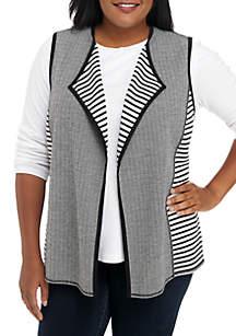 Plus Size Reversible Vest