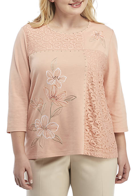 Alfred Dunner Plus Size Good to Go Patchwork