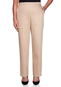 Alfred Dunner Petite Good To Go Proportion Medium Pants