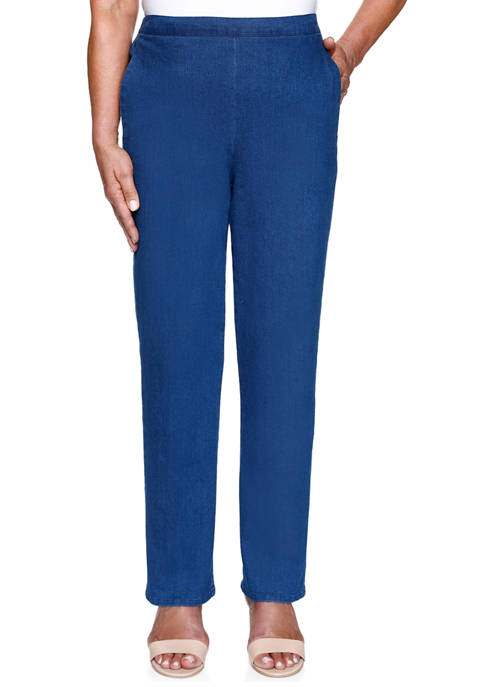 Alfred Dunner Womens Lazy Daisy Proportioned Short Pants