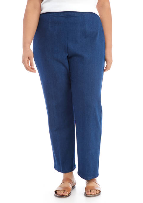 Alfred Dunner Plus Size Lazy Daisy Medium Pants