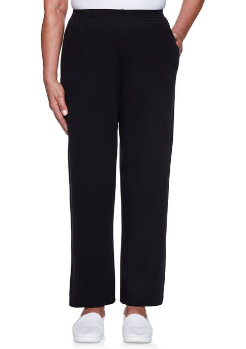 Alfred Dunner Womens Clean Getaway Proportioned Medium Pants