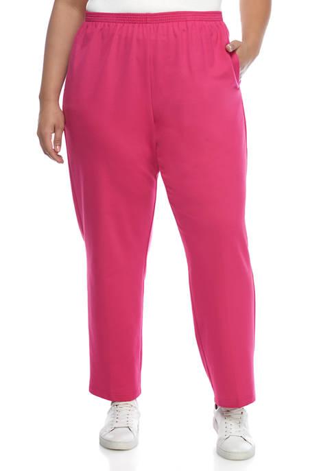 Alfred Dunner Plus Size Clean Getaway Medium Pants