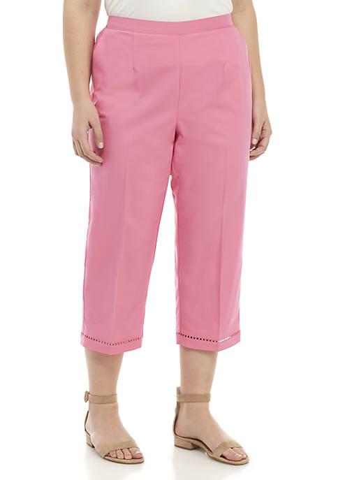 Alfred Dunner Plus Size Palm Coast Capri Pants